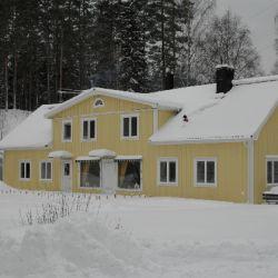 Het vakantiehuis in de winter