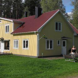 De zijkant van de woning